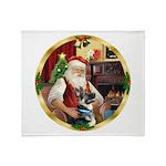 Santa's German Shepherd #15 Throw Blanket