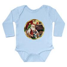 Santa's German Shepherd #15 Long Sleeve Infant Bod