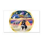 XmasStar/German Shep Pup 22x14 Wall Peel