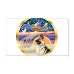XmasStar/German Shepherd #13B 22x14 Wall Peel