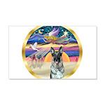 XmasStar/German Shepherd #12 22x14 Wall Peel