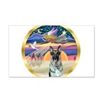 XmasStar/German Shepherd #12 22x14 Wall Peel