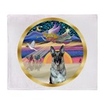 XmasStar/German Shepherd #12 Throw Blanket