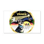 XmasDove/German Shepherd #15 22x14 Wall Peel