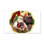 Santa's German Shepherd Pup 22x14 Wall Peel
