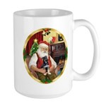 Santa's German Shepherd Pup Large Mug