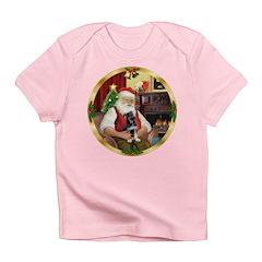 Santa's German Shepherd Pup Infant T-Shirt