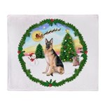 Take Off1/German Shepherd #11 Throw Blanket