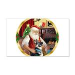 Santa's German Shepherd #15 22x14 Wall Peel