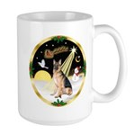 Night Flight/ German Shepherd Large Mug