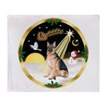 Night Flight/ German Shepherd Throw Blanket