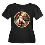 Santa's German Shepherd #14 Women's Plus Size Scoo