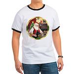 Santa's German Shepherd #14 Ringer T