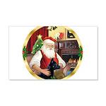 Santa's German Shepherd #14 22x14 Wall Peel