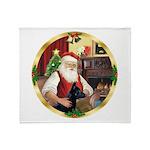 Santa's German Shepherd #14 Throw Blanket
