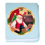 Santa's German Shepherd #14 baby blanket