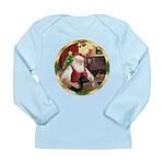 Santa's German Shepherd #14 Long Sleeve Infant T-S