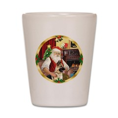 Santa's German Shepherd #13 Shot Glass