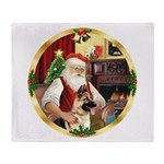 Santa's German Shepherd #13 Throw Blanket
