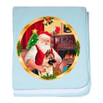 Santa's German Shepherd #13 baby blanket