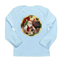 Santa's German Shepherd #13 Long Sleeve Infant T-S