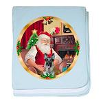 Santa's German Shepherd #12 baby blanket