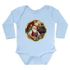 Santa's German Shepherd #12 Long Sleeve Infant Bod