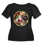 Santa's German Shepherd #11 Women's Plus Size Scoo