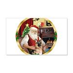 Santa's German Shepherd #11 22x14 Wall Peel