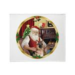 Santa's German Shepherd #11 Throw Blanket