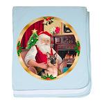 Santa's German Shepherd #11 baby blanket