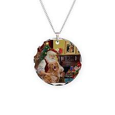 Santas Gold Retriever Necklace