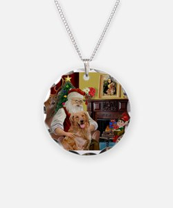 Santas Gold Retriever Necklace