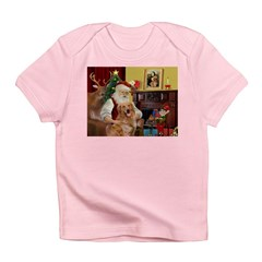 Santas Gold Retriever Infant T-Shirt
