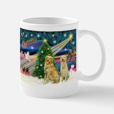Xmas Magic & Golden pair Mug