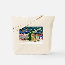 Xmas Magic & Golden pair Tote Bag