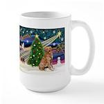 Xmas Magic Golden Retriever (#1) Large Mug