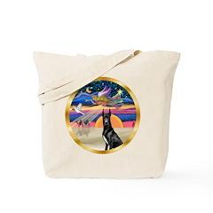 XmasStar/ Gr Dane (blk) Tote Bag