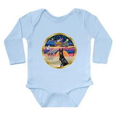 XmasStar/ Gr Dane (blk) Long Sleeve Infant Bodysui