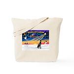XmasSunrise/Gr Dane (blk) Tote Bag