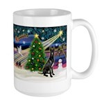 XmasMagic/Black Dane Large Mug