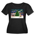 Xmas Magic & Gr Dane Women's Plus Size Scoop Neck