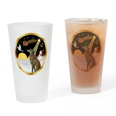 Night Flight/Greyhound (brin) Drinking Glass