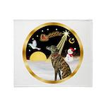 Night Flight/Greyhound (brin) Throw Blanket
