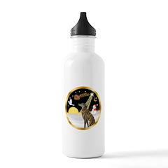 Night Flight/Greyhound (brin) Water Bottle