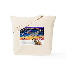 XmasSunrise/3 Greyhounds Tote Bag