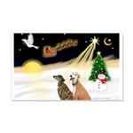 NIGHT FLIGHT<br>& 2 Greyhound 22x14 Wall