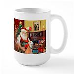 Santa's Greyhound pair Large Mug