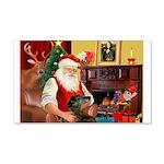 Santa's Greyhound(brin) 22x14 Wall Peel