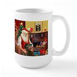 Santa's Greyhound(brin) Large Mug